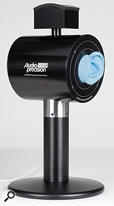 Audio Precision's AECM206 Headphone Test Fixture is designed to mimic the acoustic properties of the average human ear.