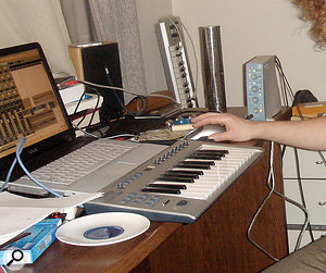 With no budget, Robin and Matteo were forced to record with the equipment they had: an ageing laptop, an MBox interface and some affordable mics.