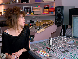 Imogen Heap's studio is centred around a Digidesign D‑Control Pro Tools controller.