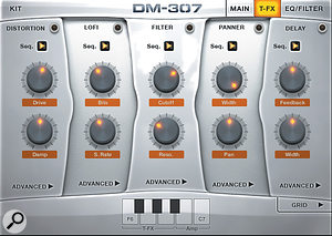 The Trigger FX options are just one element of the creative beat-manipulation options provided by DM307.