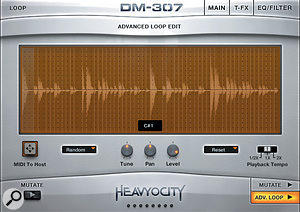 DM307 also includes some excellent beat-sliced loop options.