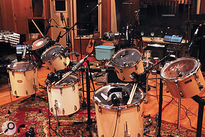Floor and rack toms of all sizes, played by three players simultaneously to create Damage's heavyweight Tom Ensembles.
