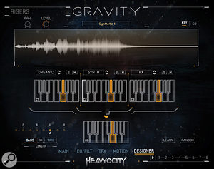 Create your own custom, three–way hits and risers on Gravity's Designer page.
