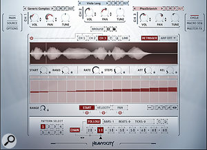 Cycle is one of Novo's deepest areas, capable of setting up rhythmic patterns and granular synthesis effects from individual samples. Punish and Twist, meanwhile are one-knob master-level effects adding attitude and motion.