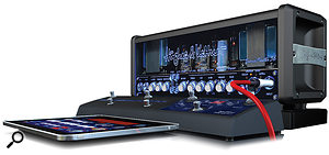 As well as the iPad app, Hughes & Kettner have made a  dedicated pedalboard, though this is a  cost option.