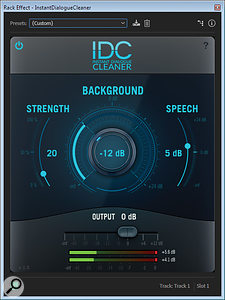 Audionamix Instant Dialogue Cleaner plug-in.