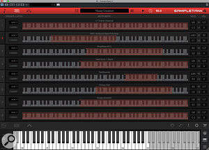 Keyboard splits and layers are easy to create within the Layers Editor.