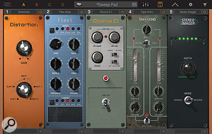 Syntronik's effects options are impressive with up to five effects available per Part and plenty of vintage-inspired effects to choose from.