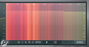 The Analysis Display also offers a  spectrogram view.