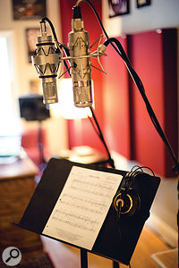 Two of Ed Boyer's favoured choices for vocal recording in an a  cappella context are the Brauner VM1 and Neumann U47 FET.