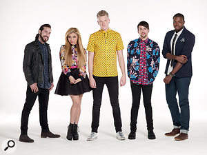 Pentatonix: from left, bass singer Avi Kaplan, soprano Kirstie Maldonado, baritone Scott Hoying, counter–tenor Mitch Grassi and beatboxer Kevin Olusola.