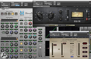 Acoustic guitars are fed through this preset series of plug-ins from Decker's mix template.