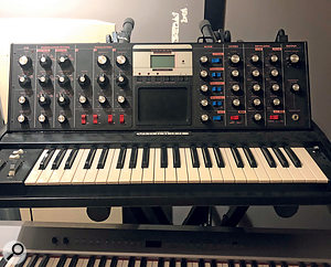 Konstantin Kersting's Moog Voyager was one of the instruments layered for the 'Dance Monkey' bass line.
