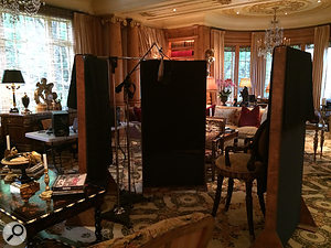 The setup used to record vocals at Rod Stewart's home in LA, Celtic House.