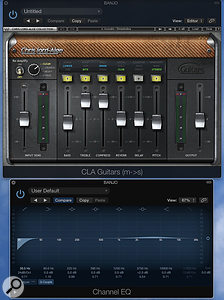 Kevin Savigar's main mixing plug-ins for the album were the Waves CLA bundle and Logic's own EQ. Here, the CLA Guitars plug-in is doing its thing on banjo.