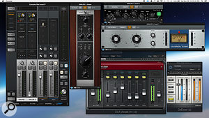 Kevin Savigar's vocal chain for Rod Stewart began with the Universal Audio 610B Unison preamp plug-in, with brightness added by the same manufacturer's Helios EQ, and dynamic control from the UAD 1176 emulation. Once again, the Waves CLA bundle came into effect, with a  Waves De-Esser providing the final touches.
