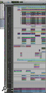 This composite screen capture shows the entire Pro Tools session for 'Take Me To Church'.