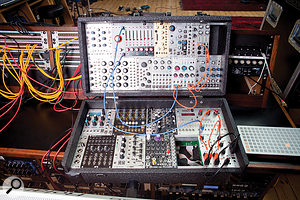 Rik Simpson has built up several large modular synth systems, all of which saw good use in the making of A Head Full Of Dreams.