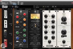 Slate Digital's Virtual Mix Rack, along with the same company's tape emulation, were used across every stem track in the session, as here on the bass bus.