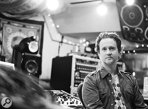 Greg Wells in his own Rocket Carousel Studio, where most of his work on The Greatest Showman took place.