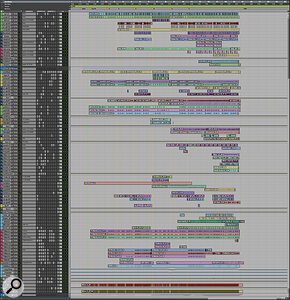 This composite screen capture shows the entire Pro Tools Edit window for 'willow'.