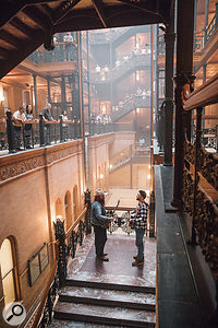 'Say Something' is a duet between Justin Timberlake and country star Chris Stapleton. This photo shows the enormity of the atrium at the Bradbury Building.