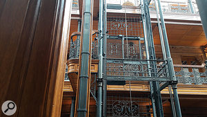 "De la Villéon: ""The biggest challenge we faced was to retain the huge sense of space that was present in the Bradbury Building in the audio, without having a sound full of dirt, far away and not precise."""