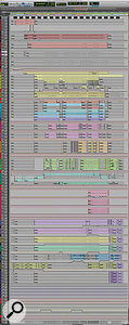 This composite screen capture shows the entire Pro Tools Edit window for the 'Say Something' mix.