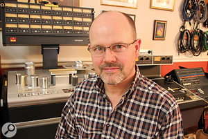 Justin Shirley-Smith is one of two staff engineers at Brian May's Allerton Hill Studio.
