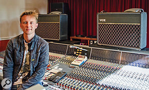 Kris Fredriksson, Brian May's other staff engineer, at Allerton Hill.
