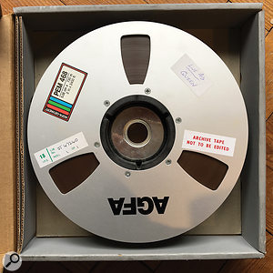 The multitrack that shouldn't have existed: Queen's iconic Live Aid performance was captured on a single reel of 24-track two-inch tape.