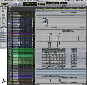 This composite screen capture shows the full Pro Tools session for the mix of 'These Walls'.