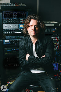 Cam Blackwood at Voltaire Road Studios, where Staying At Tamara's was recorded.