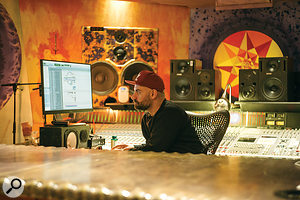 Dan Grech-Marguerat in his room at London's Strongroom Studios.