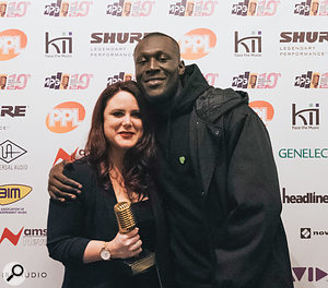 Manon Grandjean was presented with her 2018 MPG Award for Recording Engineer Of The Year by Stormzy.