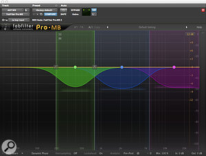 Andy Selby is a  big fan of FabFilter's plug-ins, including the Pro-MB multi-band dynamics processor, used here on acoustic guitar.