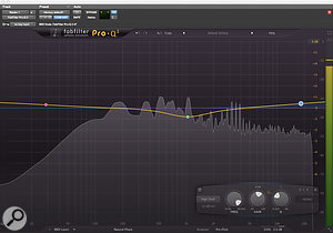 FabFilter's Pro-Q 2 equaliser and Pro-L limiter were used across the master bus.