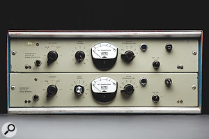 Giles Martin and Sam Okell's remix made extensive use of original Abbey Road outboard, not only for authenticity but because they felt it still sounded the best. This photo shows two of the studio's EMI-modified Altec RS124 compressors.
