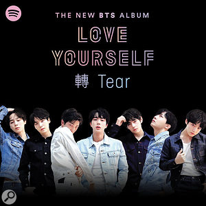 BTS album cover for Love Yourself: Tear.