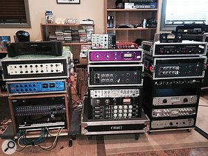 Dave O'Donnell's gear usually resides here, at his own Studio D, but is racked ready to be taken elsewhere!
