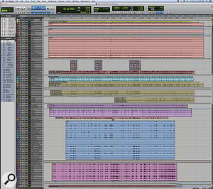 This composite screen capture shows the entire Pro Tools Edit window for 'Stretch Of The Highway'.