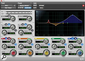 The 'KIK 2' sample was treated with contrasting EQ settings to help it cut through.