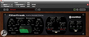 Another effect transition was enhanced by automating a filter sweep from Soundtoys' FilterFreak.