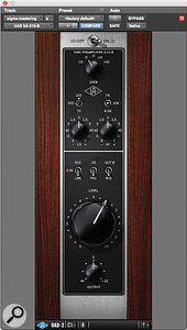 No fewer than 10 plug-ins were used on the master bus beginning with the UAD 610 preamp emulation.