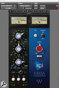 Bernard Löhr is a fan of the API 550A EQ on vocals, and used the Waves emulation on Lily James' lead track.