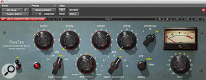 Löhr mixed into a Waves PuigTec EQ plug-in with low and high shelving boosts.