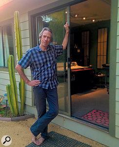 Ryan Ulyate outside his Topanga Canyon studio, Ryan's Place.