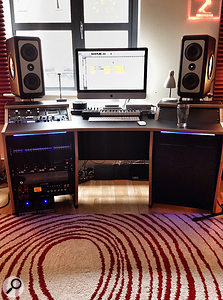 Dan Lancaster works mostly in the box, but has a  small quantity of high-quality outboard gear — and some very nice monitors!