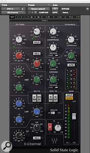 Dan Lancaster's technique for mixing the distorted guitars involved making broad-band treble boosts with the Waves SSL E-Channel plug-in, then using multiple instances of Avid's EQ1 to notch out specific problem frequencies.