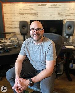 Adam Hawkins at his new home studio in Nashville.